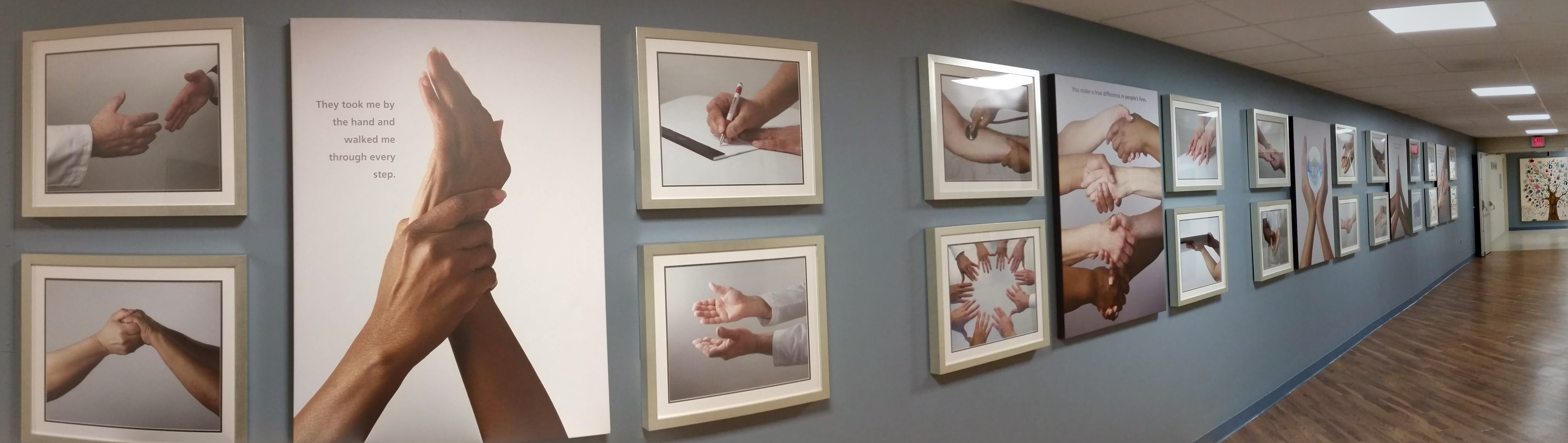 Healing Hands user experience installation