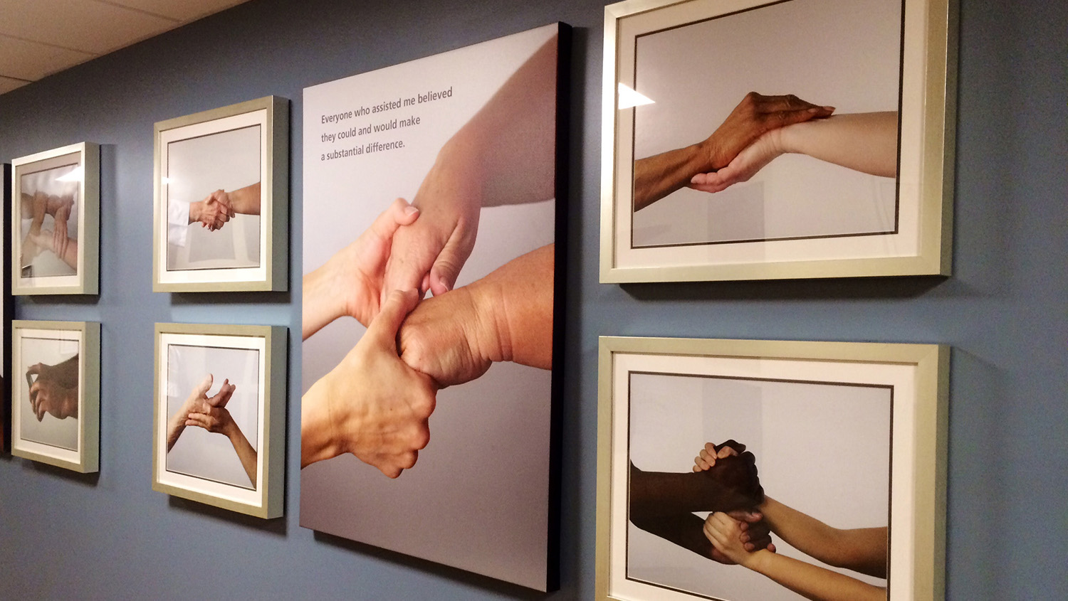 Healing Hands visual installation for hospitals