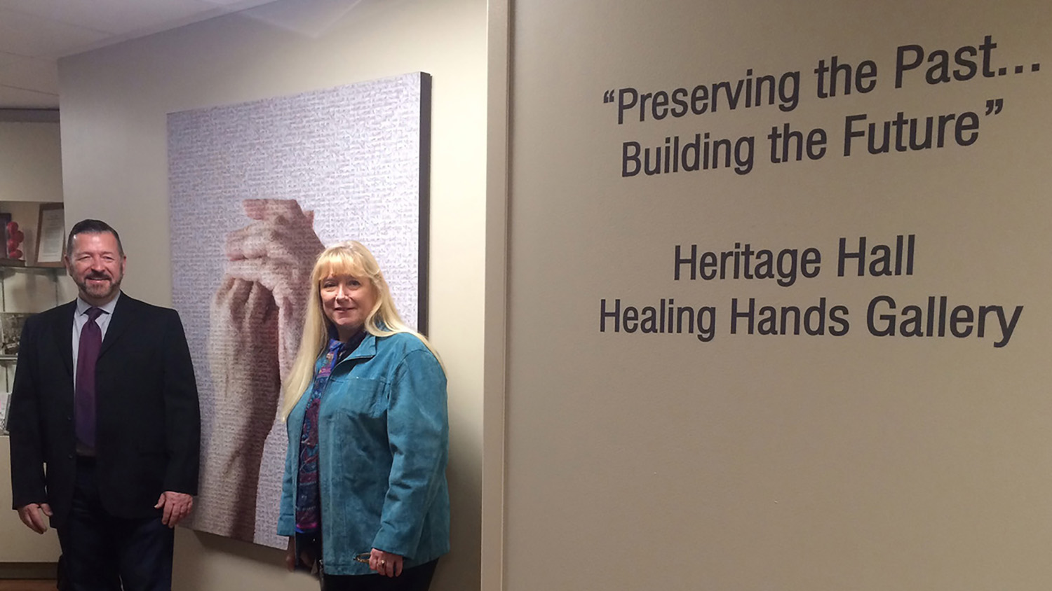 Healing Hands curated wall installations